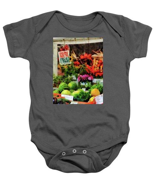 Farmer's Market Baby Onesie