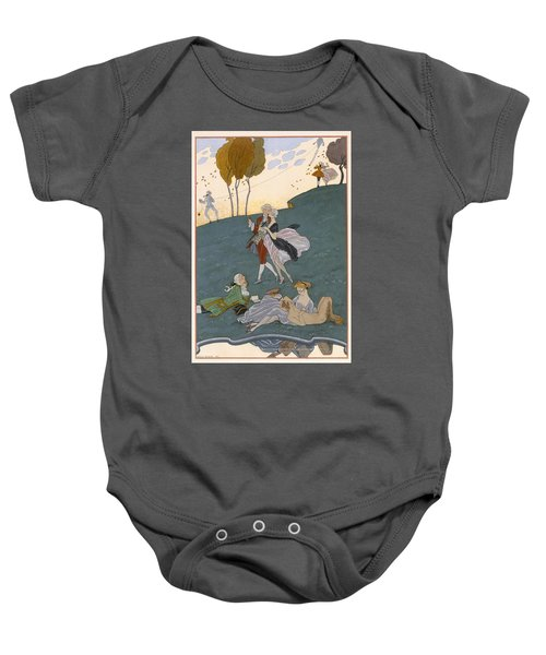 Fetes Galantes Baby Onesie by Georges Barbier