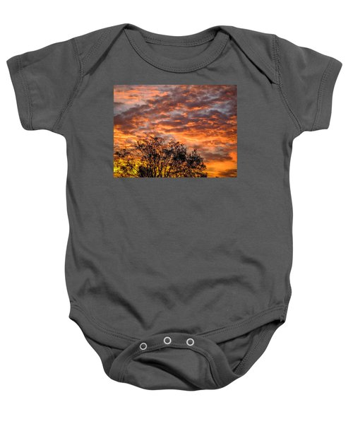 Fiery Sunrise Over County Clare Baby Onesie