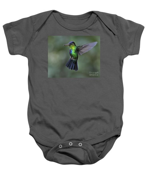 Fiery-throated Hummingbird..  Baby Onesie