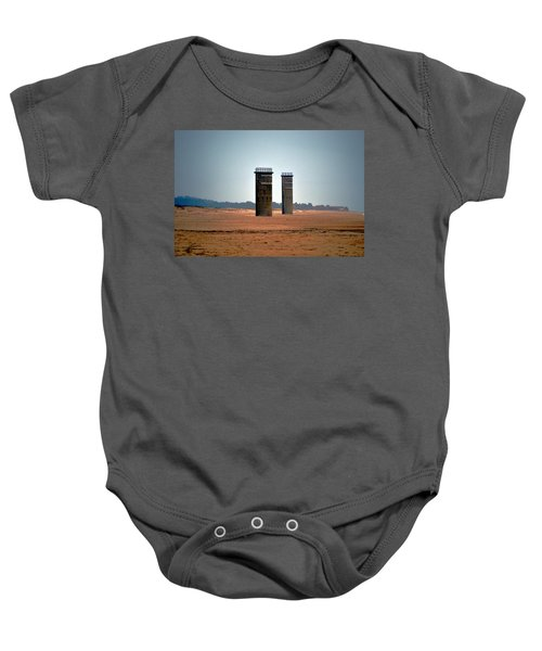 Fct5 And Fct6 Fire Control Towers On The Beach Baby Onesie