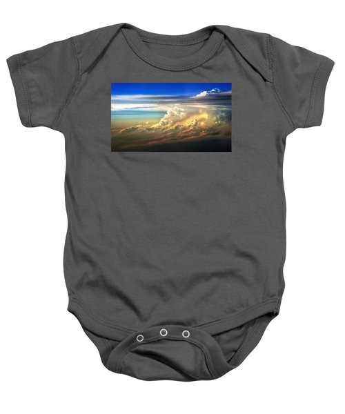 Fire In The Sky From 35000 Feet Baby Onesie