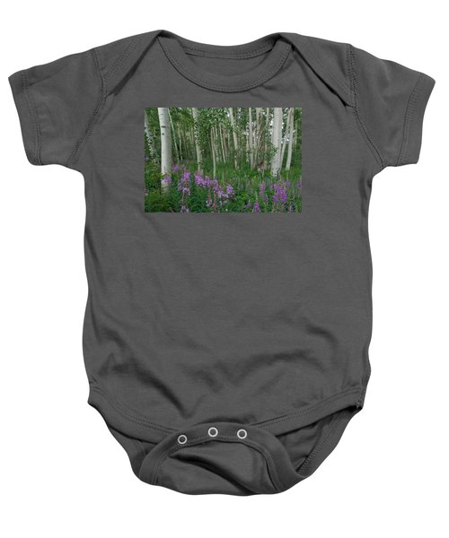 Fireweed And Aspen Baby Onesie