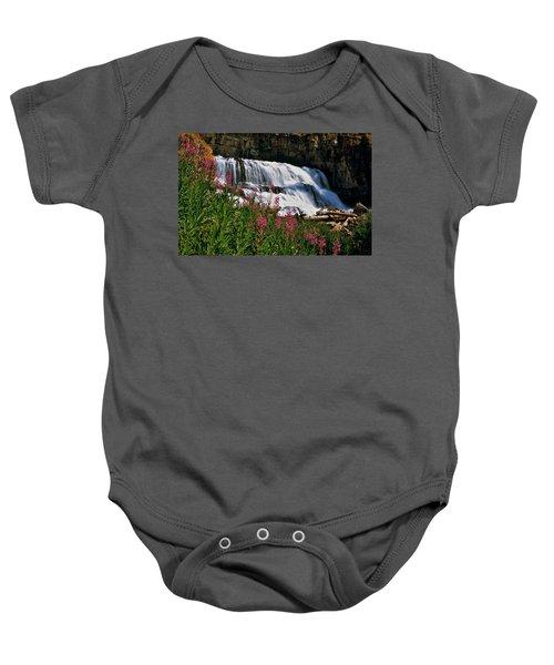 Fireweed Blooms Along The Banks Of Granite Creek Wyoming Baby Onesie