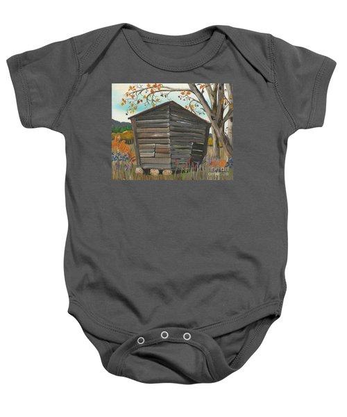 Autumn - Shack - Woodshed Baby Onesie