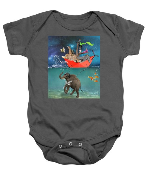Floating Zoo Baby Onesie