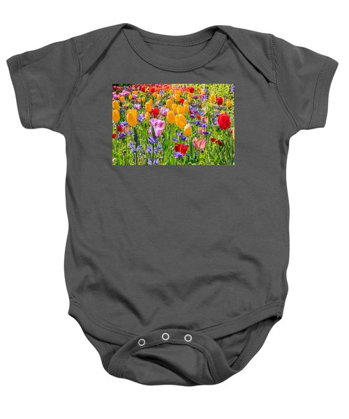 Flowers Everywhere Baby Onesie