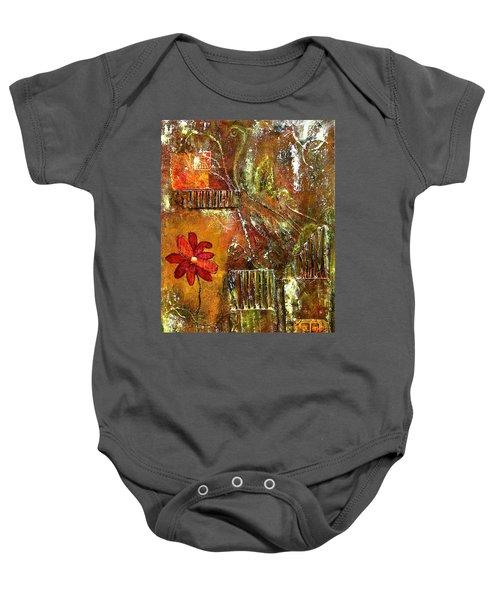 Flowers Grow Anywhere Baby Onesie by Bellesouth Studio