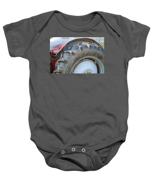 Baby Onesie featuring the photograph Ford Tractor by Jennifer Ancker