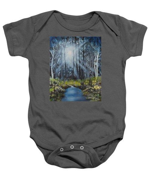 Forest Light Baby Onesie