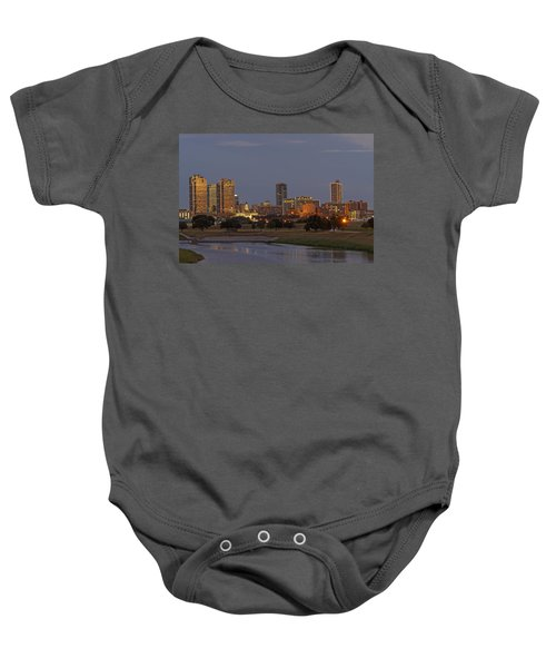 Fort Worth Skyline Golden Hour Baby Onesie