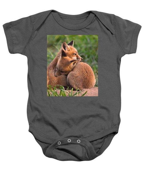 Fox Cubs Cuddle Baby Onesie