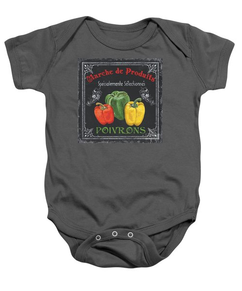 French Vegetables 3 Baby Onesie