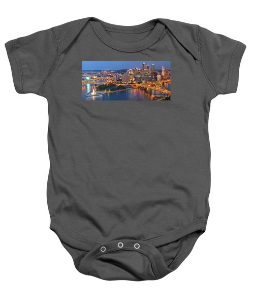 From The Fountain To Ft. Pitt Baby Onesie