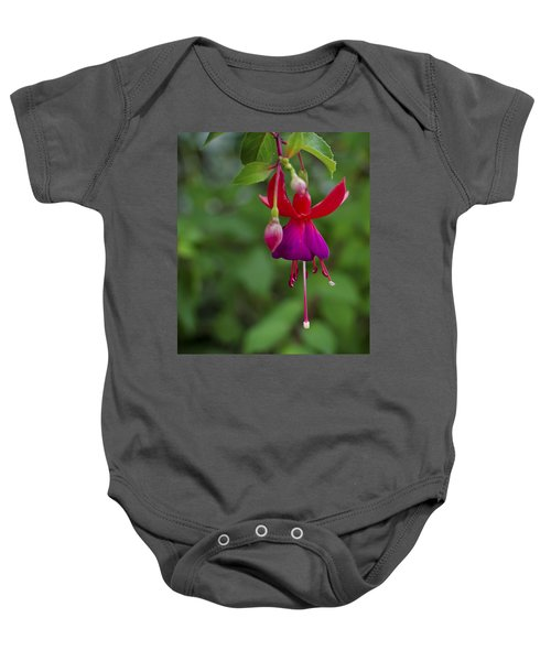 Fuschia Flower Baby Onesie