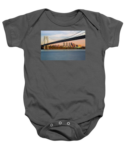 George Washington Bridge In Autumn Baby Onesie