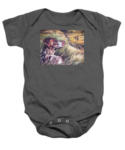 German Shorthaired Pointer And Pheasants Baby Onesie
