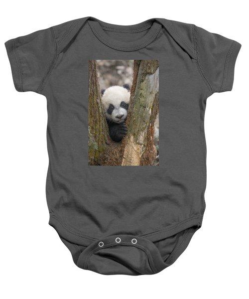 Giant Panda Cub Bifengxia Panda Base Baby Onesie