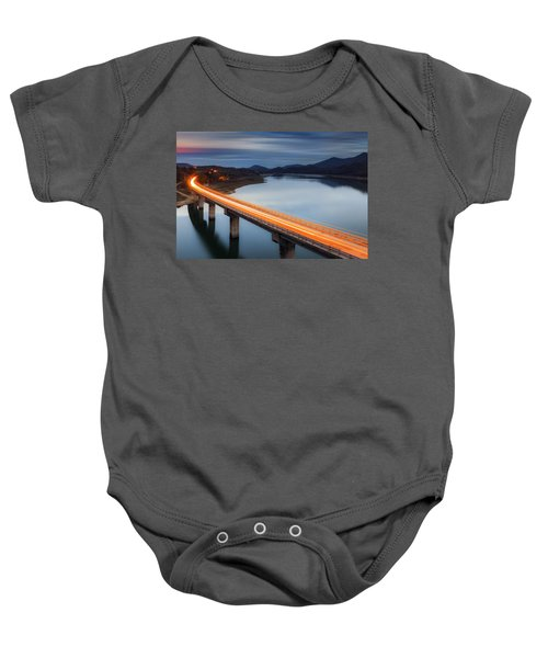 Glowing Bridge Baby Onesie