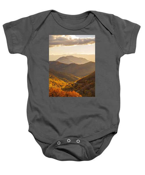 Golden Fall Baby Onesie