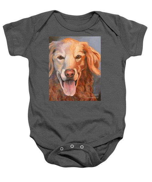 Golden Retriever Till There Was You Baby Onesie