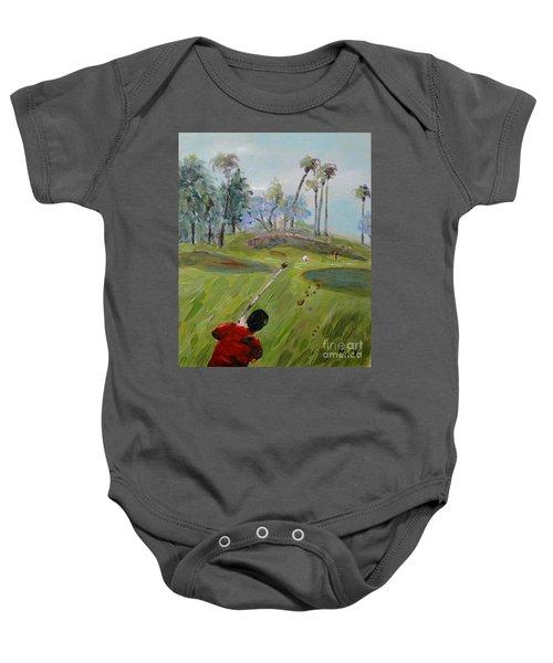 Golfing At Monarch Baby Onesie