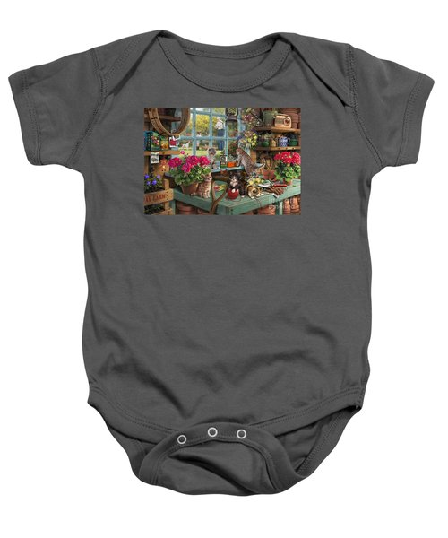 Grandpa's Potting Shed Baby Onesie by Steve Read