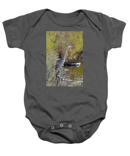 Great Blue Heron - Juvenile Baby Onesie