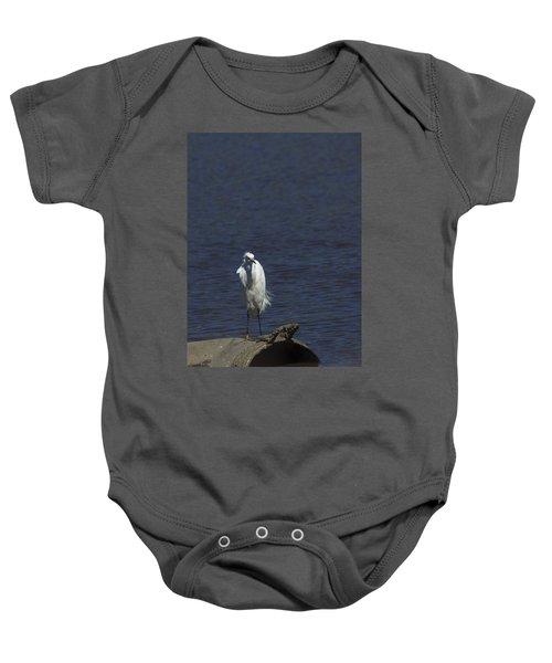 Great Egret Baby Onesie