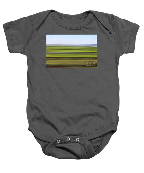 Green Field Abstract Baby Onesie
