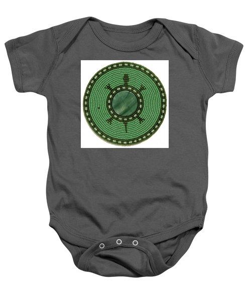 Green Shell Turtle Baby Onesie
