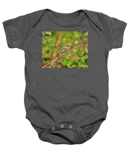 Gregarious Grasshoppers Baby Onesie