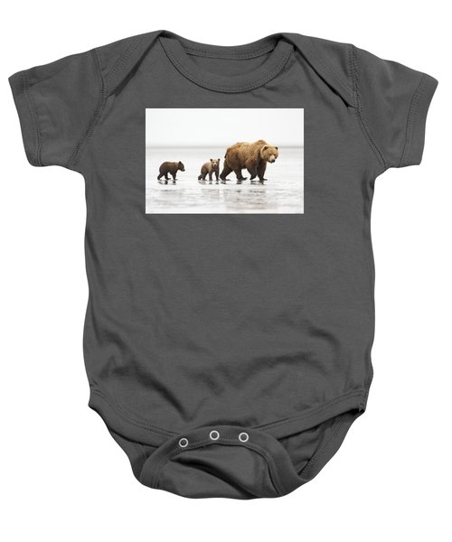Grizzly Bear Mother And Cubs Lake Clark Baby Onesie