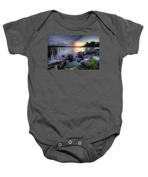 Guilford Lake Sunset Baby Onesie