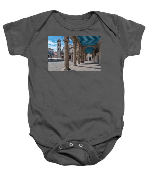 Havana Cathedral And Porches. Cuba Baby Onesie