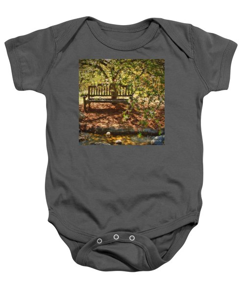 Have A Seat Baby Onesie by Peggy Hughes