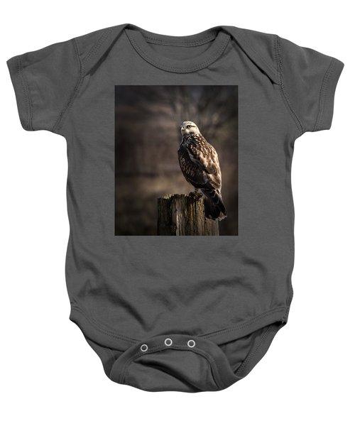 Hawk On A Post Baby Onesie