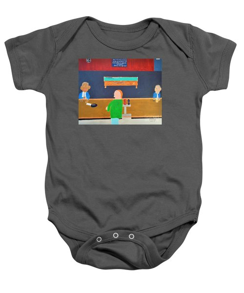 He Did It Baby Onesie by Dennis ONeil