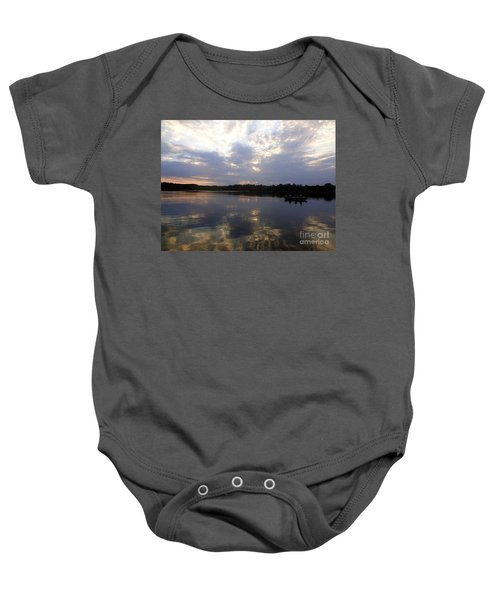 Heading Home On Lake Roosevelt In Outing Minnesota Baby Onesie