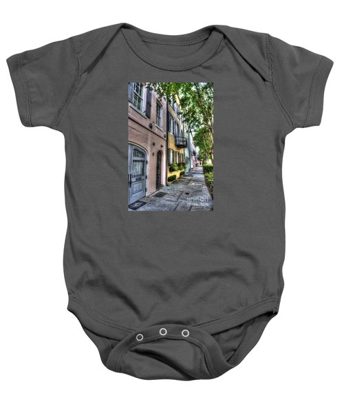 Historic Rainbow Row Baby Onesie