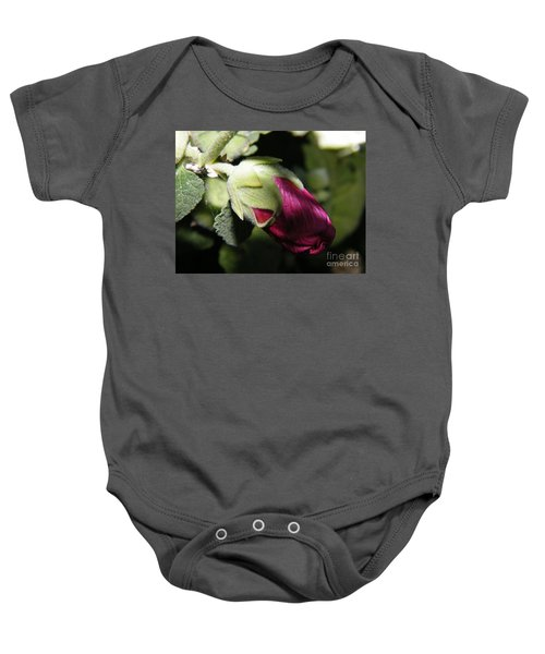 Hollyhock Shadows Baby Onesie