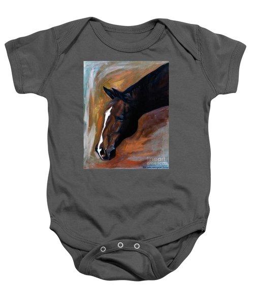 horse - Apple copper Baby Onesie