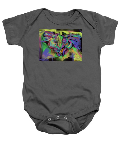 Horses Together In Colour Baby Onesie