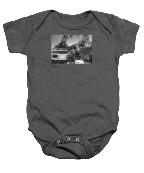 Hotel Del At Sunset Baby Onesie