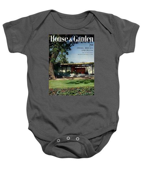 House & Garden Cover Of The Kurt Appert House Baby Onesie