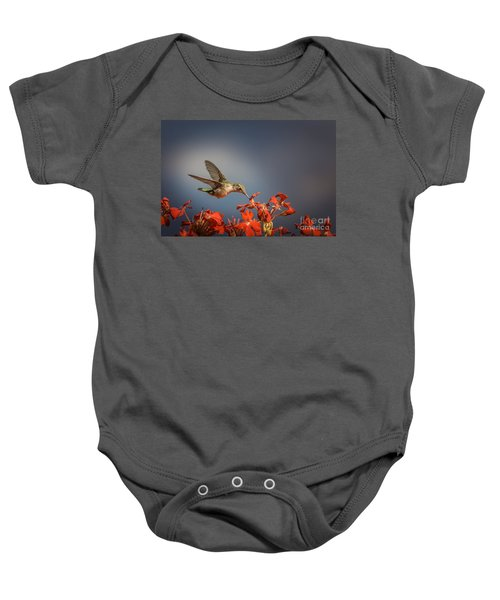 Hummingbird Or My Summer Visitor Baby Onesie