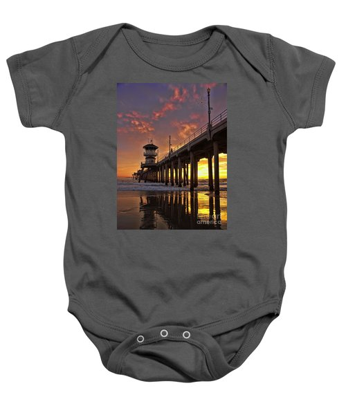 Huntington Beach Pier Baby Onesie