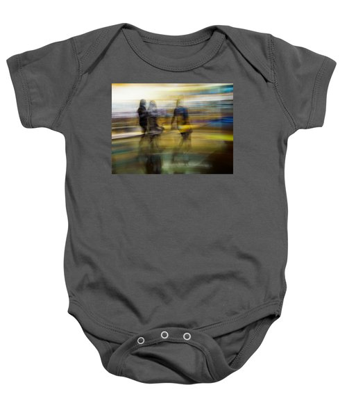 Baby Onesie featuring the photograph I Had A Dream That You And Your Friends Were There by Alex Lapidus