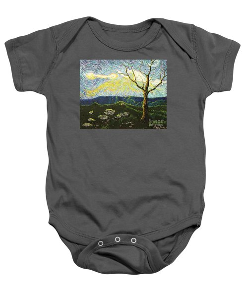 In Between A Rock And A Heaven Place Baby Onesie