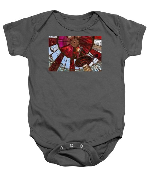 Interior Of Fresnel Lens In Umpqua Lighthouse Baby Onesie